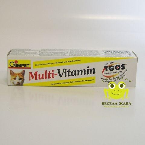 Витаминная паста для котов Gimpet MultiVitamin plus