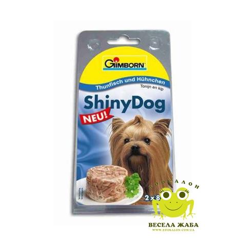 Консервы для собак Gimpet Shiny Dog курица-тунец 2 x 85 г