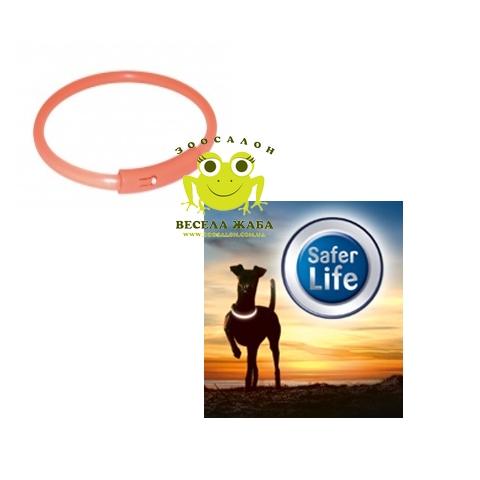 Ошейник для собак светящийся Trixie Safer Life Light Band