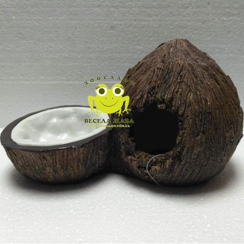 Декорация для террариума пещера с поилкой Кокос ExoTerra