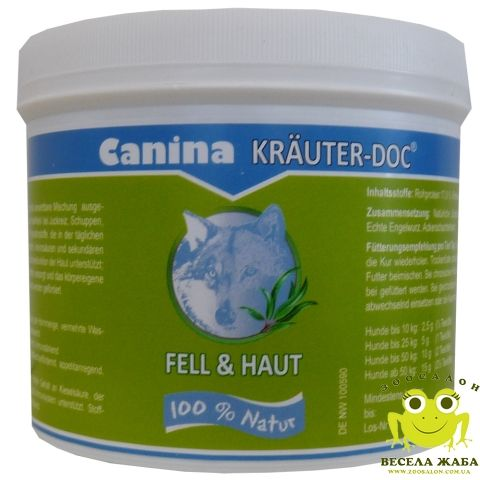 Добавка для здоровья кожи и шерсти собак Canina KrauterDoc FELL & HAUT