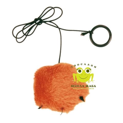 Игрушка для кошек меховая лапа на резинке Trixie PAW