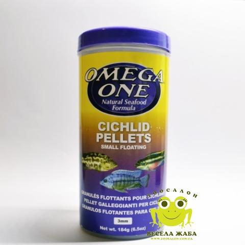 Корм для цихлид Omega One Cichlid Pellets Small 184g