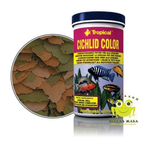 Корм Tropical Cichlid Color для всех видов цыхлид в хлопьях