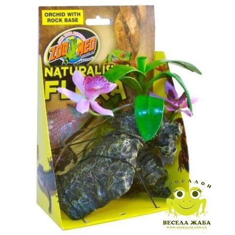 Растение искусственное Zoo Med Orchid with Rock (Орхидея)