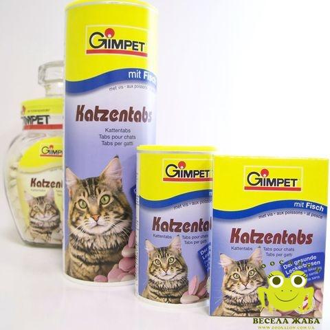 Витамины для котов Gimpet Katzentabs mit TGOS (рыба)