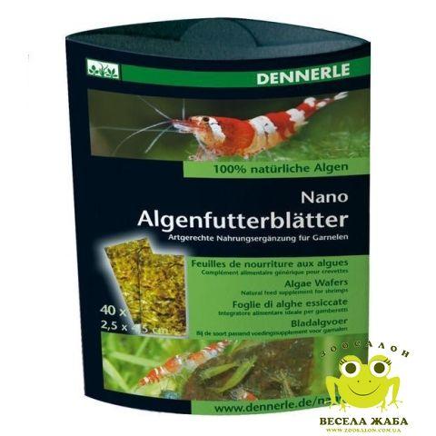Корм Dennerle Nano Algenfutterblatter 40 штук