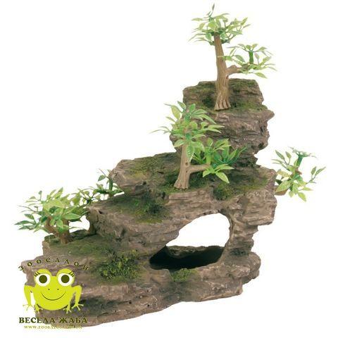 Декорация для аквариума Trixie Утес с растениями