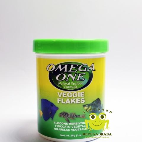 Корм для растительноядных рыб Omega One Veggie Flakes 28g