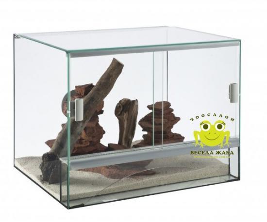 Террариум стеклянный diversa 30x25x25см, 3mm., 19л.