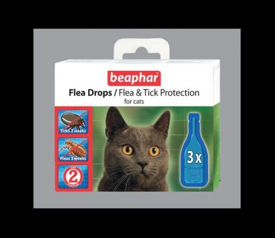 BEAPHAR Flea Drops for Cats Капли от блох и клещей для кошек