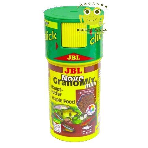 Сухой корм для рыб JBL NovoGranoMix mini click, RF 100 ml