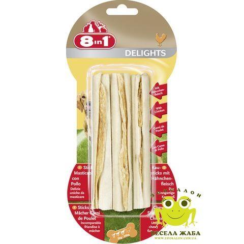 Палочки для собак с мясом 8in1 Delights Kausticks 3шт 13см