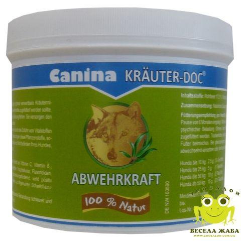 Добавка для укрепления иммунитета собак Canina KrauterDoc ABWEHRKRAFT 150 гр