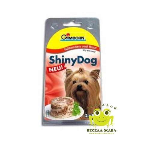 Консервы для собак Gimpet Shiny Dog курица-говядина 2 x 85 г