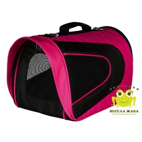 Сумка-переноска Alina Trixie для собак розовая/черная