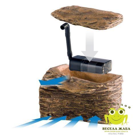Фильтр островок для черепах с фильтром средний ExoTerra Turtle Cliff