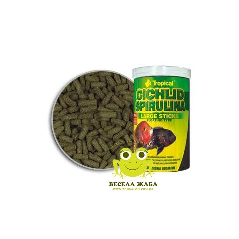 Корм Tropical Cichlid Spirulina Large sticks со спирулиной для крупных цихлид