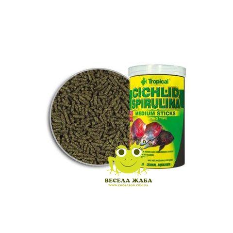 Корм Tropical Cichlid Spirulina Medium sticks со спирулиной для средних цихлид