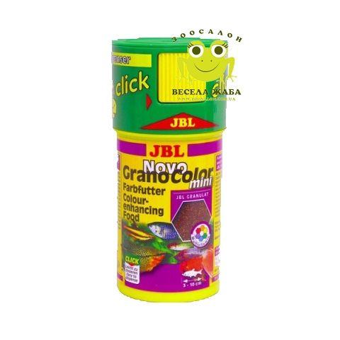 Сухой корм для рыб JBL NovoGranoColor mini click, RF 100 мл