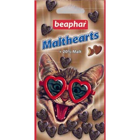 BEAPHAR MaltHearts Лакомство для выведения шерсти из желудка для кошек,
