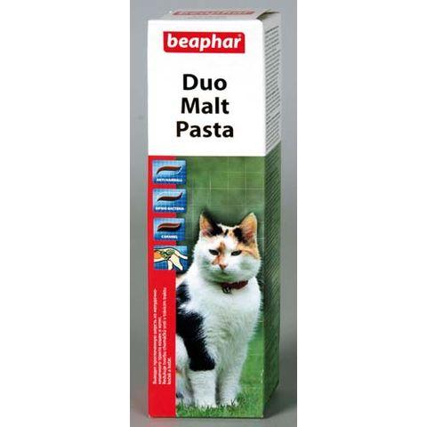 BEAPHAR Duo Malt Paste Паста для выведения шерсти из желудка двойного действия для кошек
